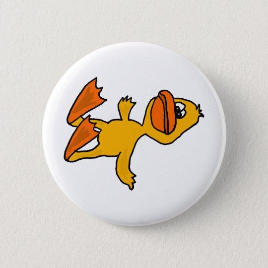 XX- Funny Dead Duck Cartoon 6 Cm Round Badge