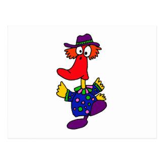 XX- Funny Duck Clown Design Postcard