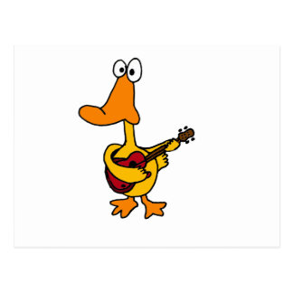 XX- Funny Duck Playing the Electric Guitar Post Cards