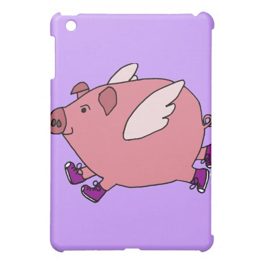 XX- Funny Flying Pig with Sneakers Cover For The iPad Mini