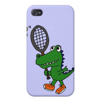 XX- Funny Gator Playing Tennis Case For The iPhone 4