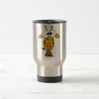 XX- Funny Giraffe Cartoon Travel Mug
