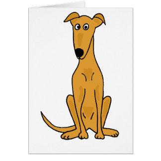 XX- Funny Greyhound Dog Cartoon Card