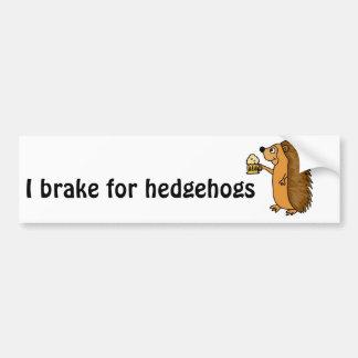 XX- Funny Hedgehog Rasing a Pint Bumper Sticker