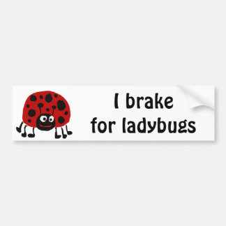 XX- Funny Ladybug Primitive Art Bumper Sticker