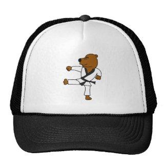 XX- Funny Martial Arts Brown Bear Cap