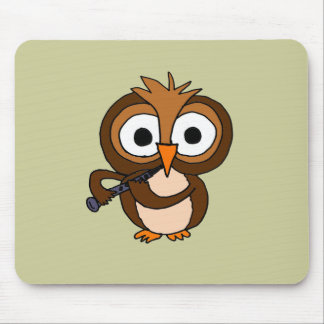 XX- Funny Owl Playing the Clarinet Mouse Pad