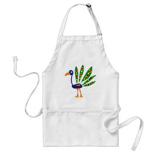 XX- Funny Peacock Primitive Art Aprons