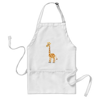 XX- Funny Primitive Art Giraffe Aprons