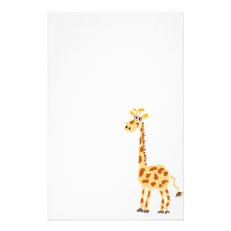 XX- Funny Primitive Art Giraffe Stationery