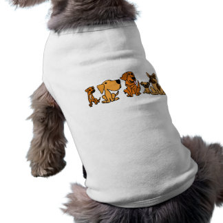 XX- Funny Rescue Dogs Group Cartoon Sleeveless Dog Shirt