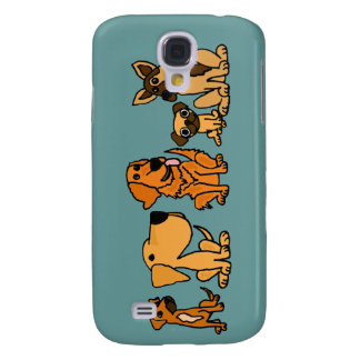 XX- Funny Rescue Dogs Group Cartoon Galaxy S4 Case
