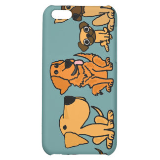 XX- Funny Rescue Dogs Group Cartoon Case For iPhone 5C