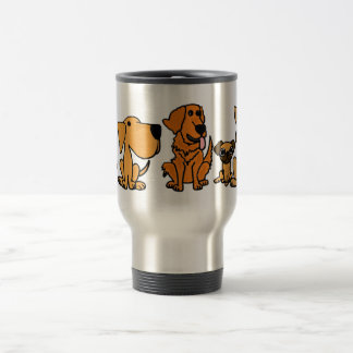 XX- Funny Rescue Dogs Group Cartoon Stainless Steel Travel Mug