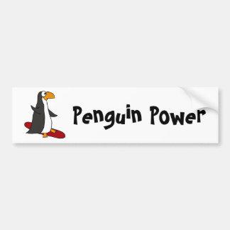 XX- Funny Snowboarding Penguin Bumper Sticker