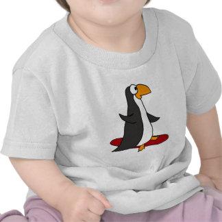 XX- Funny Snowboarding Penguin Tee Shirts