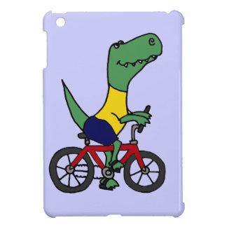 XX- Funny T-rex Dinosaur Riding Bicycle iPad Mini Cases