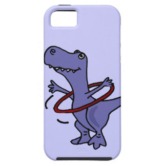 XX- Funny T-rex Dinosaur Using Hula Hoop iPhone 5 Covers