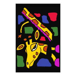 XX- Giraffe Abstract Art Customized Stationery