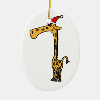 XX- Giraffe Christmas Design Christmas Ornament