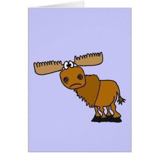 XX- Goofy Moose Design Greeting Card