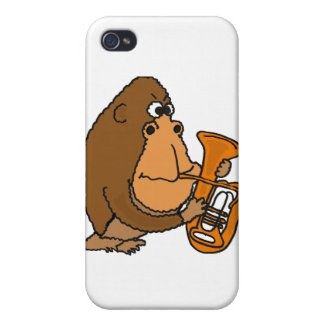 XX- Gorilla Playing Tuba iPhone 4 Case