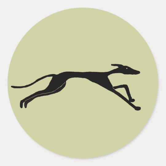 XX- Greyhound Racing Design Classic Round Sticker