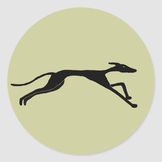 XX- Greyhound Racing Design Round Sticker