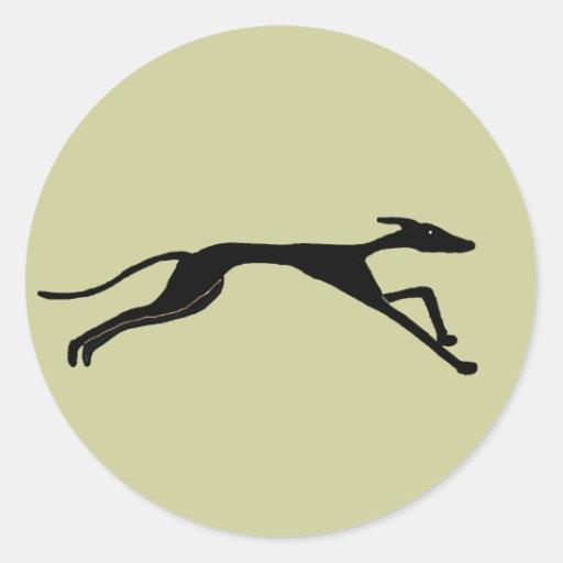 XX- Greyhound Racing Design Round Stickers