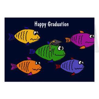 XX- Happy Graduation School of Fish Card