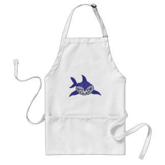 XX- Hilarious Grinning Shark Cartoon Standard Apron