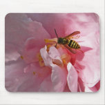 XX- Honey Bee on Camellia Flower Mouse Pad