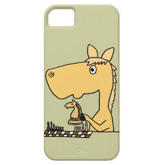 XX- Horse Playing Chess Cartoon iPhone 5 Covers