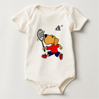 XX- Labrador Retriever Playing Badminton Baby Bodysuit