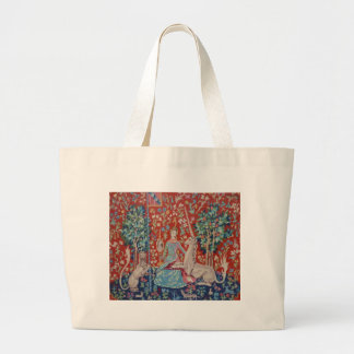 XX- Lady and the Unicorn Tapestry Art Design Jumbo Tote Bag