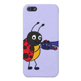 XX- Ladybug Playing Trumpet Cartoon iPhone 5 Cases