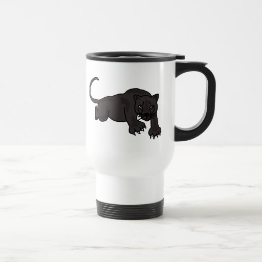 XX- Leaping Panther Stainless Steel Travel Mug