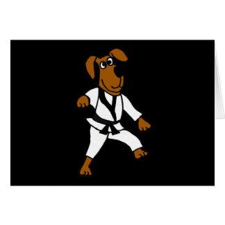 XX- Martial Arts Puppy Dog Card