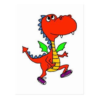 XX- Orange Dragon Jogging Postcard