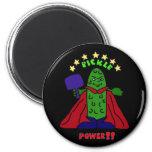 XX- Pickle Power Superhero Pickleball Cartoon