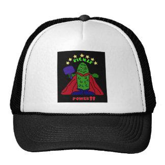 XX- Pickle Power Superhero Pickleball Cartoon Cap