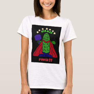 XX- Pickle Power Superhero Pickleball Cartoon T-Shirt