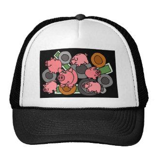 XX- Piggy Banks and Coins Art Mesh Hats