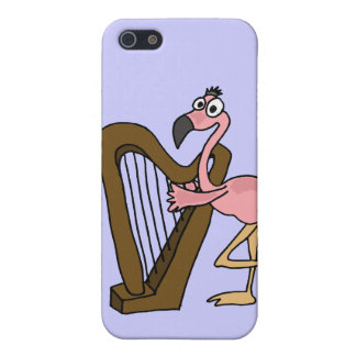 XX- Pink Flamingo Playing Harp Case For The iPhone 5
