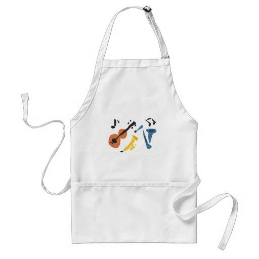 XX- Primitive Art Musical Instruments Apron