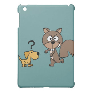 XX- Puppy Dog Meets Giant Squirrel Cartoon Case For The iPad Mini