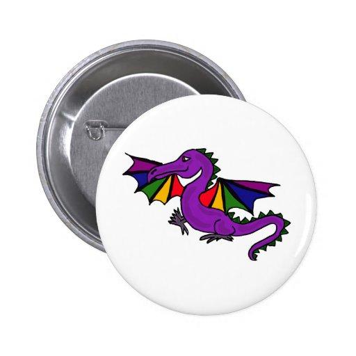 XX- Purple Dragon 6 Cm Round Badge