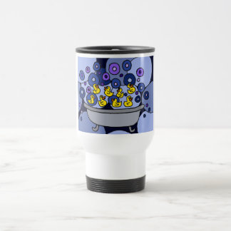 XX- Rubber Ducks and Bubbles Stainless Steel Travel Mug