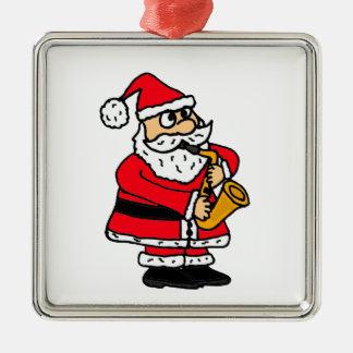 XX- Santa Claus Playing Saxophone Christmas Christmas Ornament