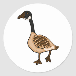 XX- Silly Goose Cartoon Classic Round Sticker